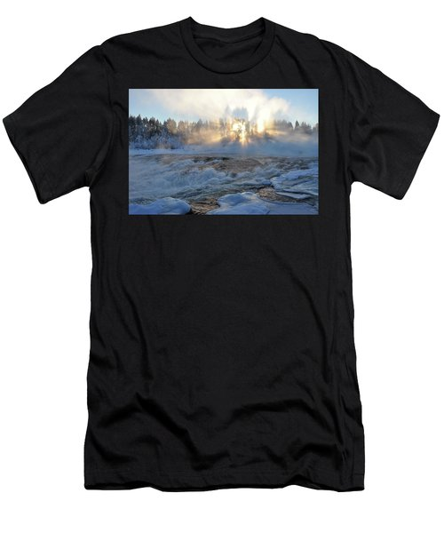 Storforsen, Biggest Waterfall In Sweden Men's T-Shirt (Athletic Fit)