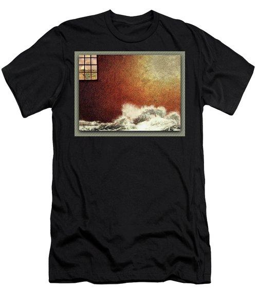Storm Against The Walls Men's T-Shirt (Athletic Fit)