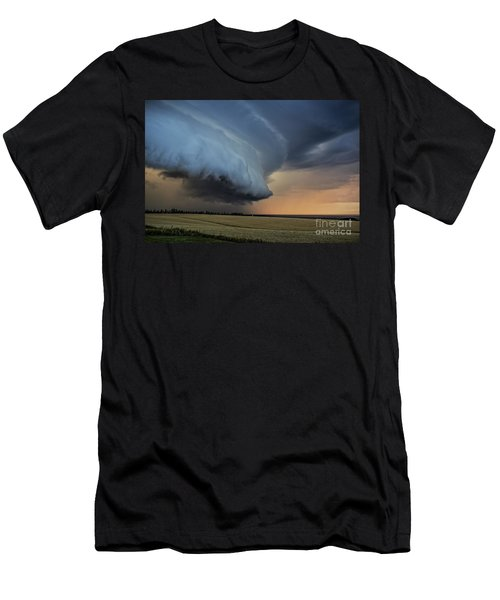 Storm Approaching Cape Tryon Lighthouse Men's T-Shirt (Athletic Fit)