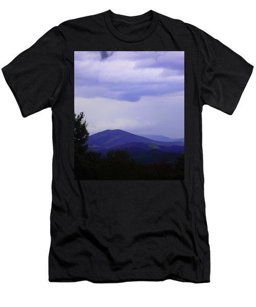 Storm At Lewis Fork Overlook 2014a Men's T-Shirt (Athletic Fit)