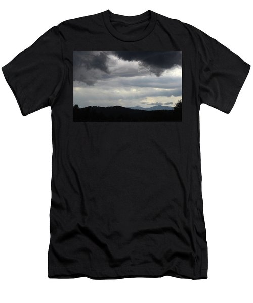 Storm At Lewis Fork Overlook 2014b Men's T-Shirt (Athletic Fit)