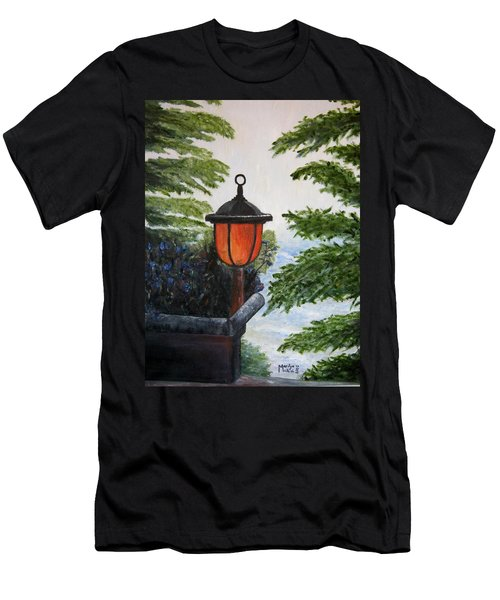 Men's T-Shirt (Slim Fit) featuring the painting Storm On Lake Of The Woods by Marilyn  McNish