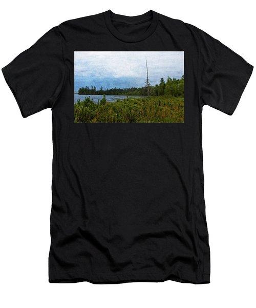 Storm On Raquette Lake Men's T-Shirt (Athletic Fit)