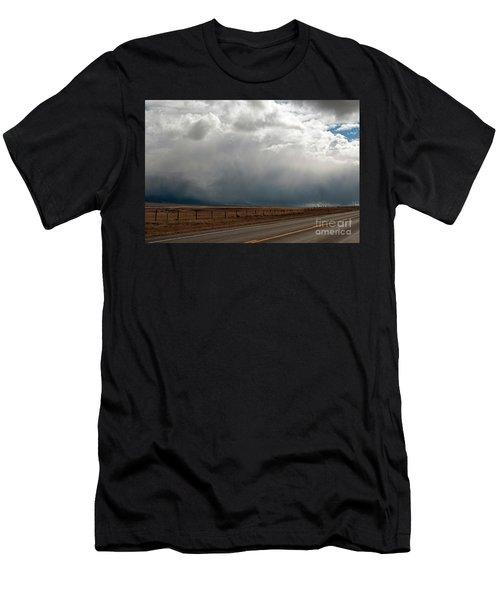 Storm On Route 287 N Of Ennis Mt Men's T-Shirt (Athletic Fit)