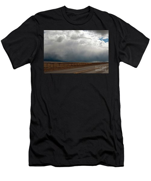 Storm On Route 287 N Of Ennis Mt Men's T-Shirt (Athletic Fit)