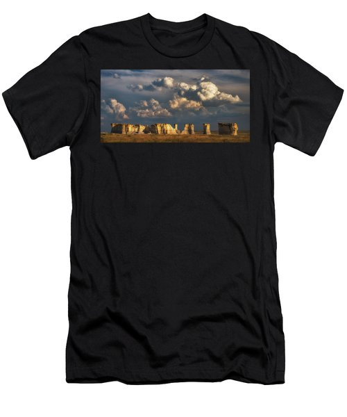 Men's T-Shirt (Athletic Fit) featuring the photograph Storm Over Monument Rocks by Darren White