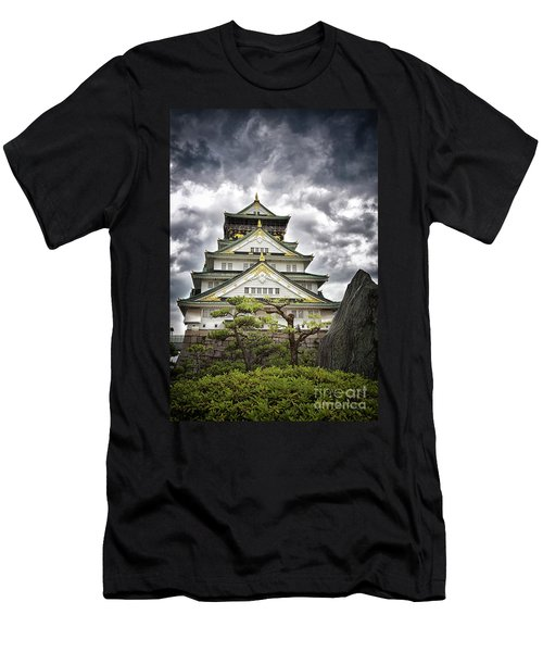 Storm Over Osaka Castle Men's T-Shirt (Athletic Fit)