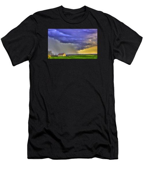 Storm Over River Men's T-Shirt (Athletic Fit)
