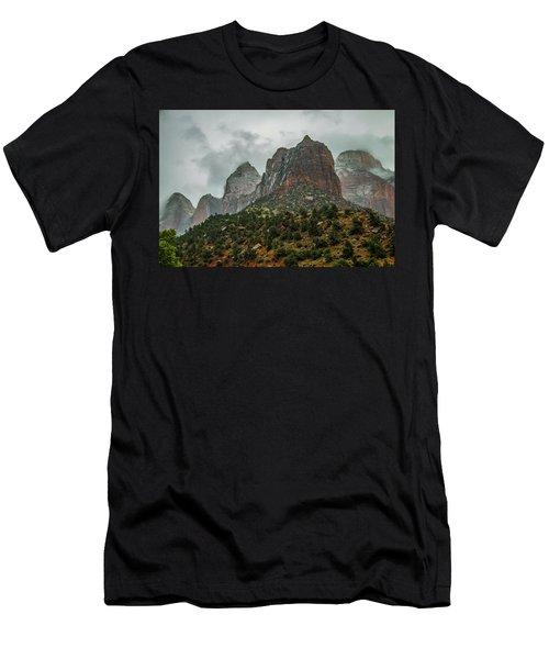 Storm Over Zion Men's T-Shirt (Athletic Fit)