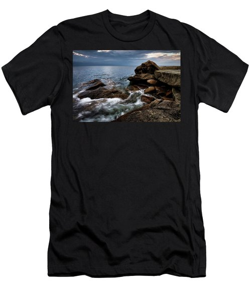 Men's T-Shirt (Athletic Fit) featuring the photograph Storm Pass Halibut Pt. by Michael Hubley
