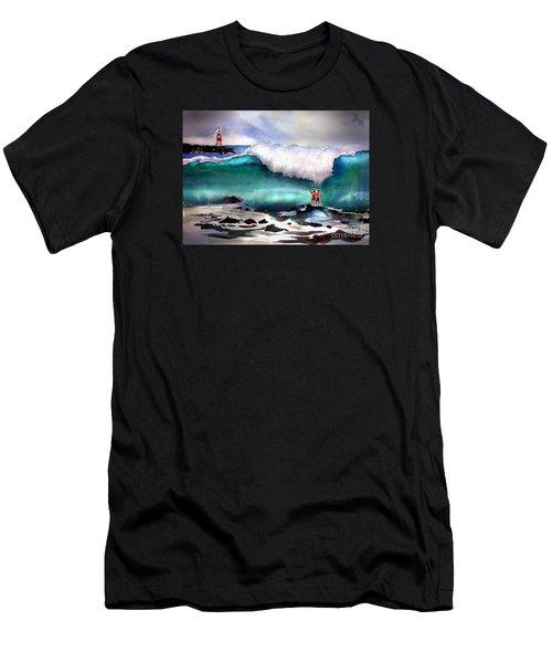 Storm Surf Moment Men's T-Shirt (Athletic Fit)
