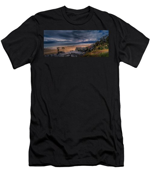 Storm Watch Over Malibu - Panarama  Men's T-Shirt (Athletic Fit)