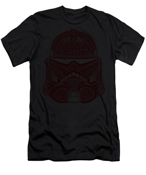 Stormtrooper Helmet - Star Wars Art - Brown  Men's T-Shirt (Athletic Fit)