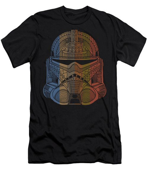 Stormtrooper Helmet - Star Wars Art - Colorful Men's T-Shirt (Athletic Fit)