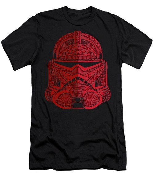 Stormtrooper Helmet - Star Wars Art - Red Men's T-Shirt (Athletic Fit)