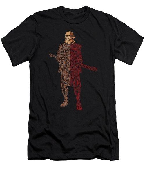 Stormtrooper Samurai - Star Wars Art - Red Brown Men's T-Shirt (Athletic Fit)