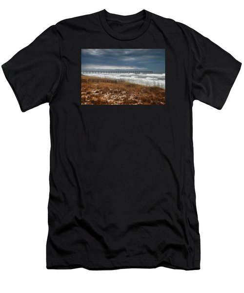 Stormy Day At The Pier Men's T-Shirt (Athletic Fit)