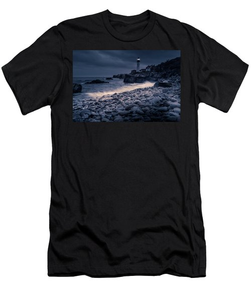Stormy Lighthouse 2 Men's T-Shirt (Athletic Fit)