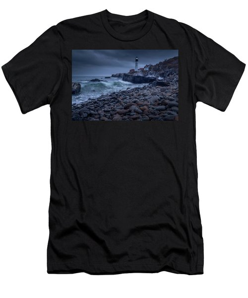 Stormy Lighthouse Men's T-Shirt (Athletic Fit)
