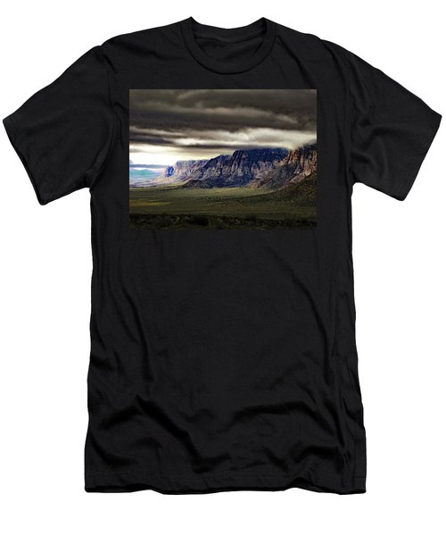 Stormy Morning In Red Rock Canyon Men's T-Shirt (Slim Fit) by Alan Socolik