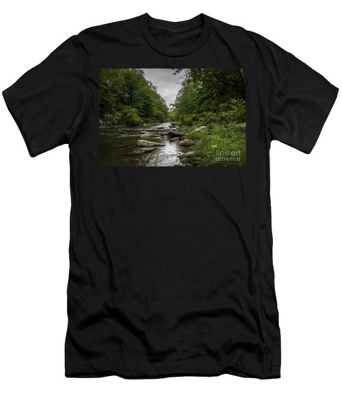 Stormy Mountain Creek Men's T-Shirt (Athletic Fit)