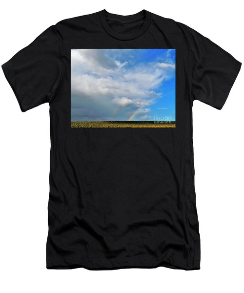 Thunder Storm Rainbow Men's T-Shirt (Athletic Fit)
