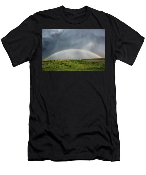 Stormy Rainbow Men's T-Shirt (Athletic Fit)