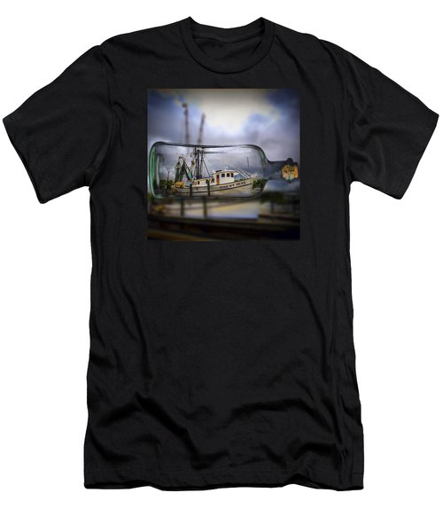 Stormy Seas - Ship In A Bottle Men's T-Shirt (Athletic Fit)