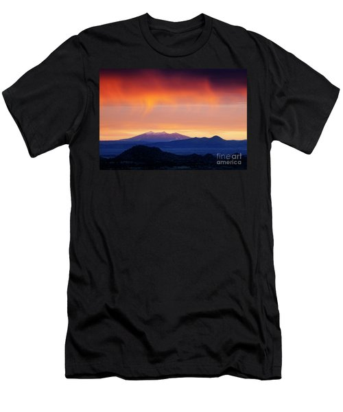 Men's T-Shirt (Athletic Fit) featuring the photograph Stormy Sunset by Scott Kemper