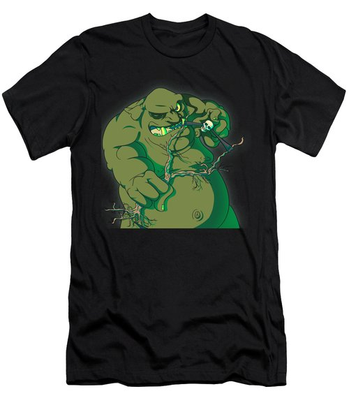 Storybook Ogre Shooting Heads Men's T-Shirt (Athletic Fit)