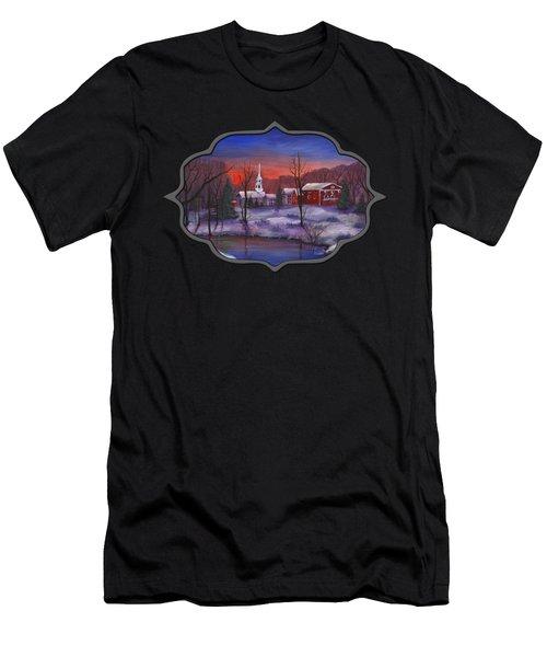 Stowe - Vermont Men's T-Shirt (Slim Fit) by Anastasiya Malakhova