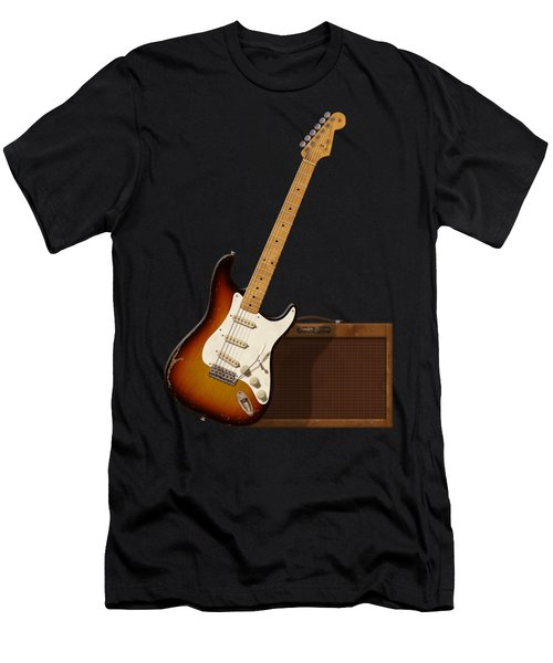 Strat And Tweed Amp Men's T-Shirt (Athletic Fit)