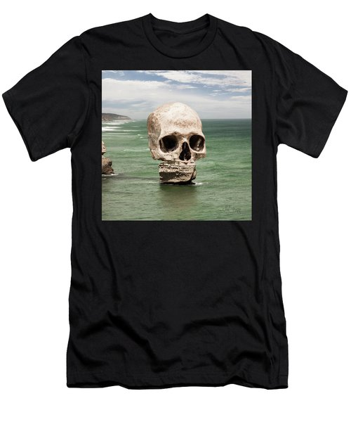 Men's T-Shirt (Athletic Fit) featuring the digital art Strata Mouth by Joseph Westrupp