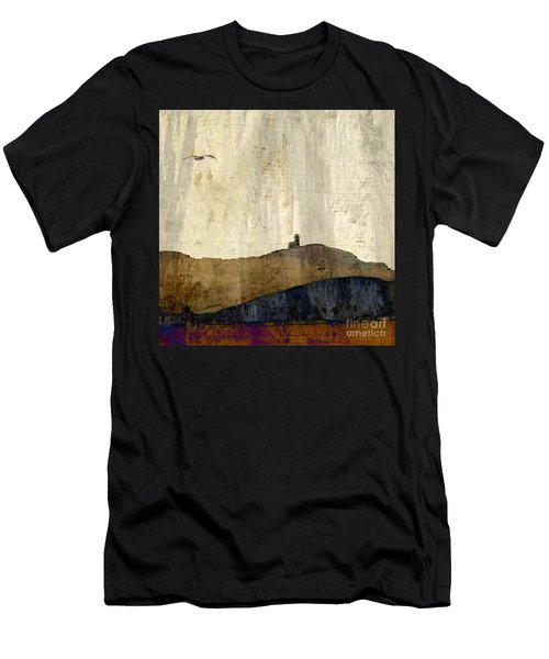 Strata With Lighthouse And Gull Men's T-Shirt (Athletic Fit)