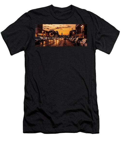 Stratford Main Drag At Dusk Men's T-Shirt (Athletic Fit)
