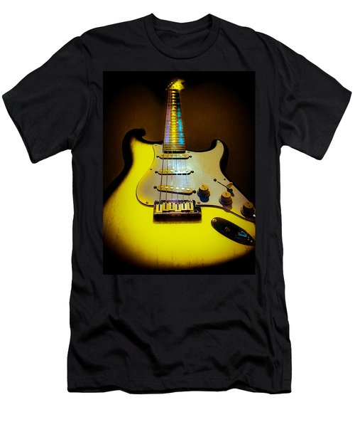 Stratocaster Lemon Burst Glow Neck Series Men's T-Shirt (Athletic Fit)