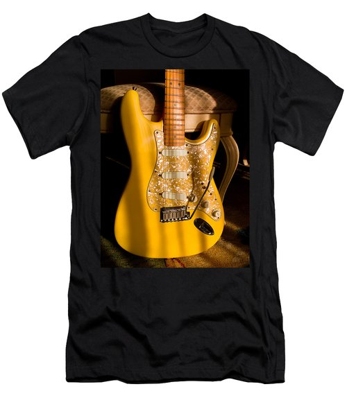 Stratocaster Plus In Graffiti Yellow Men's T-Shirt (Athletic Fit)