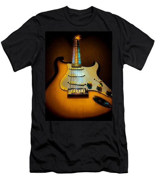Stratocaster Tobacco Burst Glow Neck Series  Men's T-Shirt (Athletic Fit)