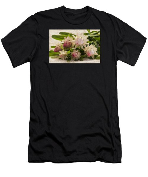 Straw Flowers And Lace Men's T-Shirt (Athletic Fit)