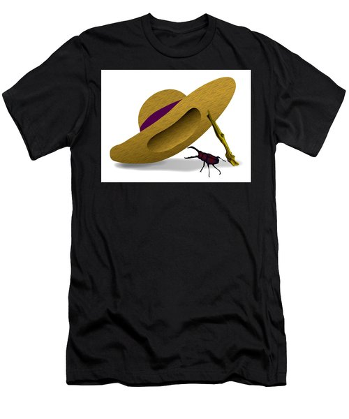Straw Hat And Stag Beetle Men's T-Shirt (Athletic Fit)