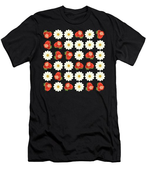 Strawberries And Daisies Men's T-Shirt (Athletic Fit)