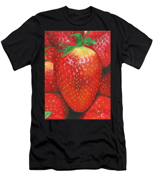 Men's T-Shirt (Athletic Fit) featuring the painting Strawberries by Nancy Nale