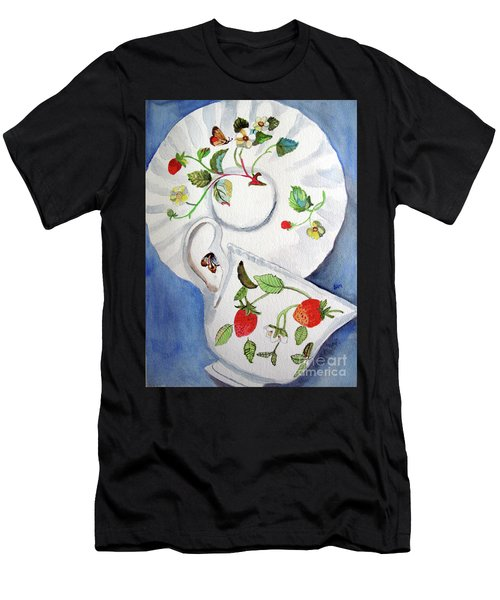 Strawberry Cup And Saucer Men's T-Shirt (Athletic Fit)