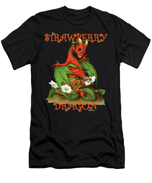 Strawberry Dragon Men's T-Shirt (Athletic Fit)