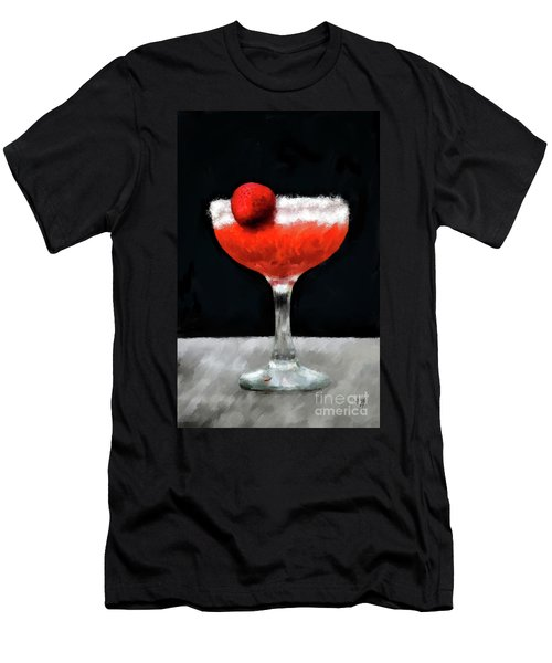 Men's T-Shirt (Athletic Fit) featuring the photograph Strawberry Margarita by Lois Bryan