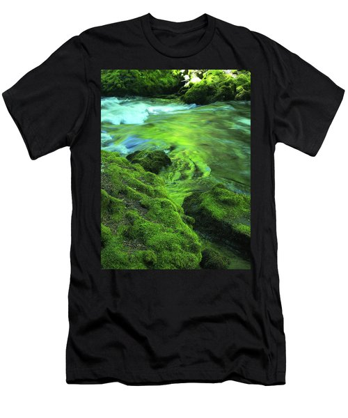 Stream Above Whitehorse Falls Men's T-Shirt (Athletic Fit)