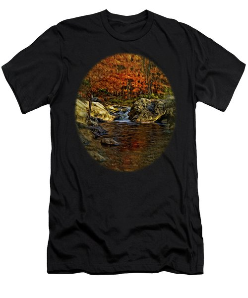 Stream In Autumn 57 In Oil Men's T-Shirt (Athletic Fit)