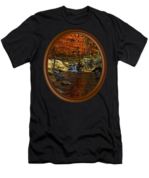 Men's T-Shirt (Athletic Fit) featuring the photograph Stream In Autumn 58 by Mark Myhaver