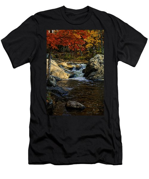Men's T-Shirt (Athletic Fit) featuring the photograph Stream In Autumn No.17 by Mark Myhaver