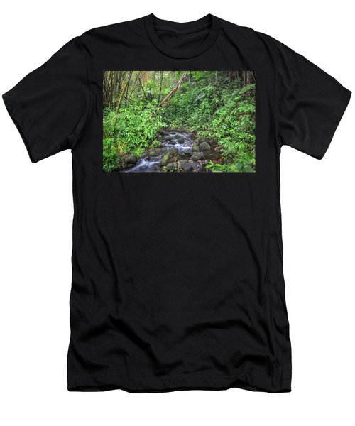 Stream In The Rainforest Men's T-Shirt (Athletic Fit)
